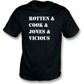Rotten & Cook & Jones & Vicious (Sex Pistols) T-shirt