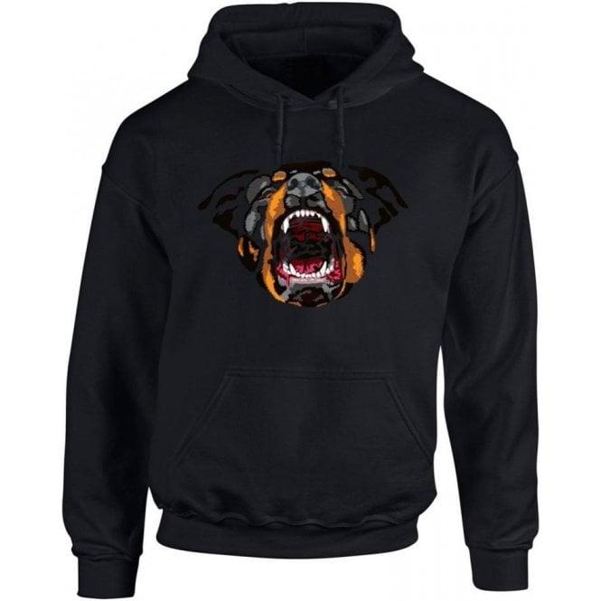 Rottweiler Face Kids Hooded Sweatshirt