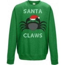Santa Claws (Crab) Kids Christmas Jumper