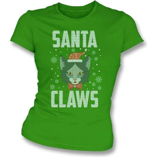 Santa Claws Womens Slim Fit T-Shirt