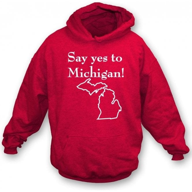 Say Yes to Michigan! (As Worn By Jack White, The White Stripes) Hooded Sweatshirt