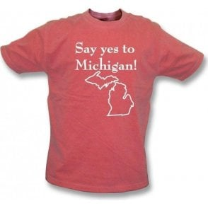 Say Yes to Michigan (As Worn By Jack White, The White Stripes) Vintage Wash T-Shirt