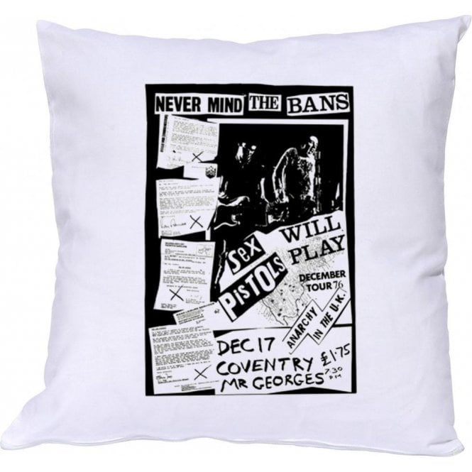 Sex Pistols Never Mind The Bans Cushion