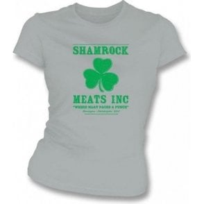 Shamrock Meats Inc (Inspired by Rocky) Womens Slim Fit T-Shirt