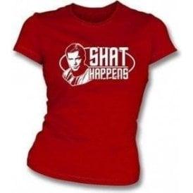 Shat Happens (Star Trek) Girl's Slim-Fit T-shirt
