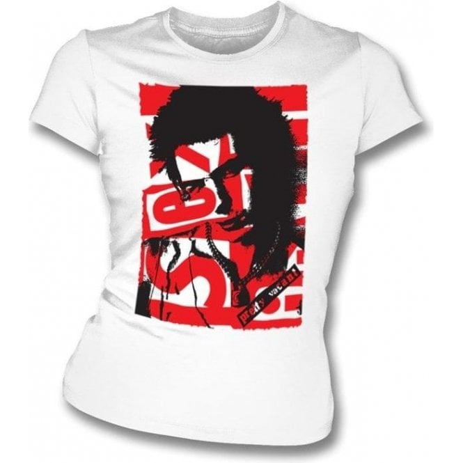 Sid Vicious Collage Womens Slimfit T-Shirt