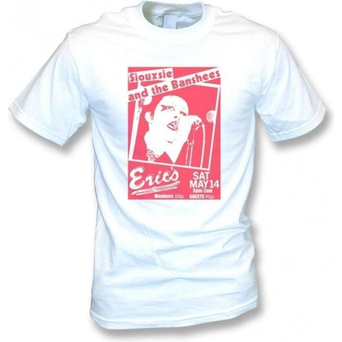 Siouxsie and The Banshees Eric's 1977 Gig Poster Vintage Wash T-shirt