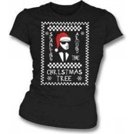 Skanking Around The Christmas Tree Womens Slim Fit T-Shirt
