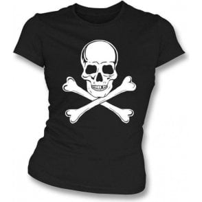 Skull and Crossbones as worn by Paul Simonon (The Clash) Womens Slim Fit T-Shirt
