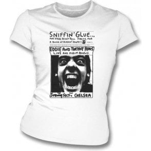 Sniffin Glue Eddie And The Hot Rods Women's Slimfit T-Shirt