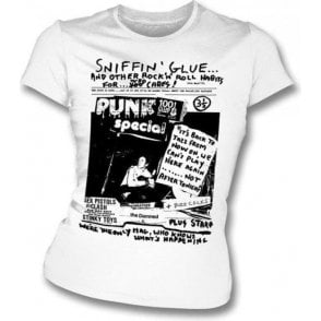 Sniffin Glue Punk Special Girl's Slim-Fit T-shirt