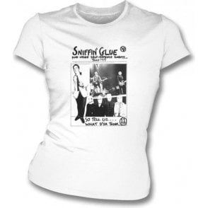 Sniffin Glue The Clash/John Lydon Womens Slimfit T-shirt