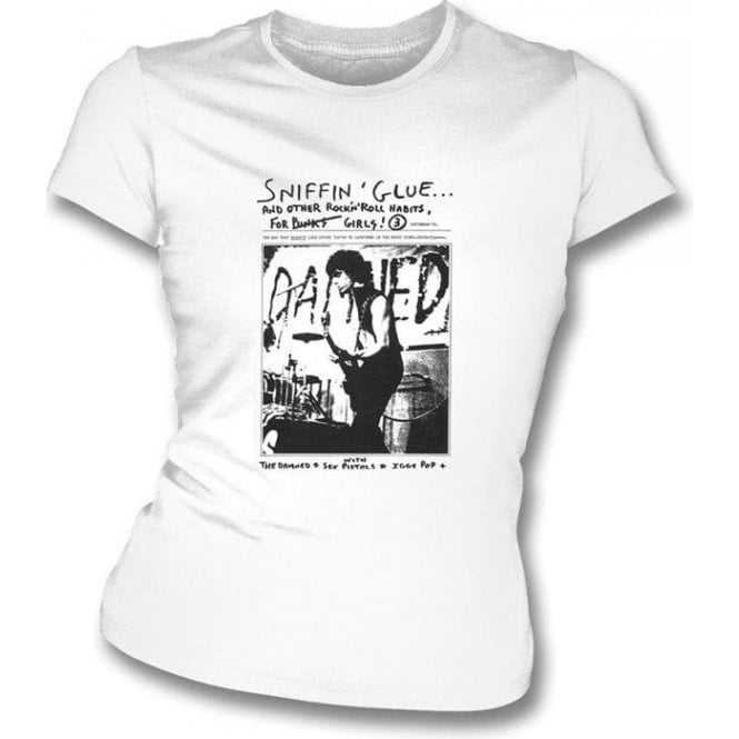 Sniffin Glue The Damned Women's Slimfit T-Shirt