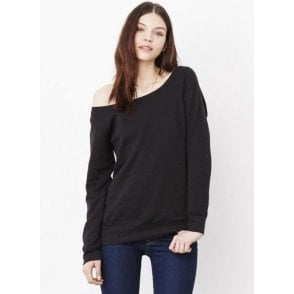 Sponge Fleece Wide Neck Sweatshirt