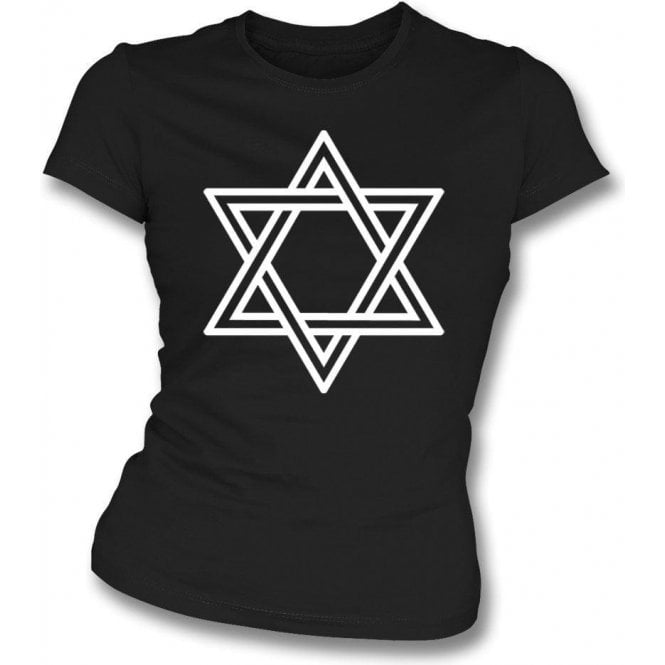 Star of David (As Worn By Siouxsie Sioux, Siouxsie and the Banshees) Womens Slim Fit T-Shirt