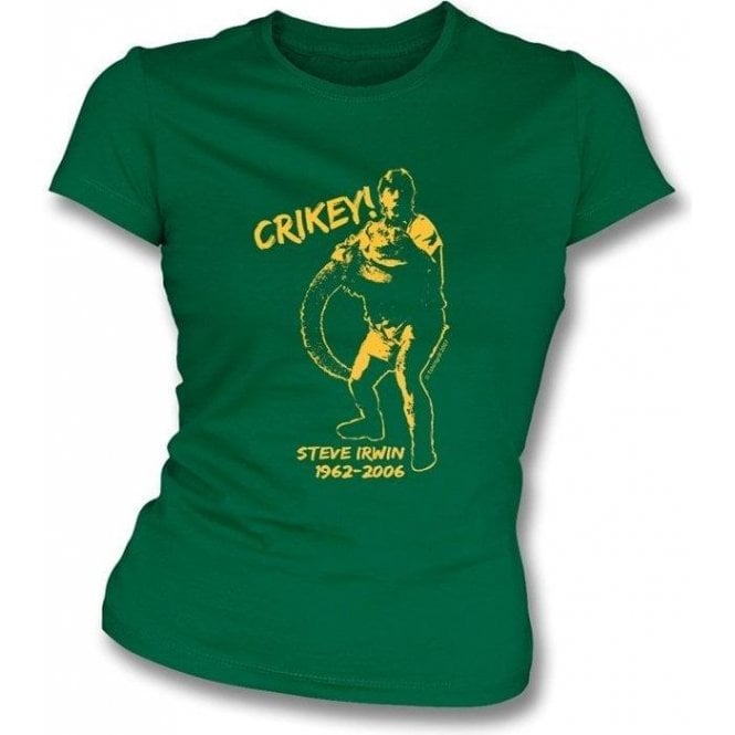 Steve Irwin Tribute girls slimfit t-shirt