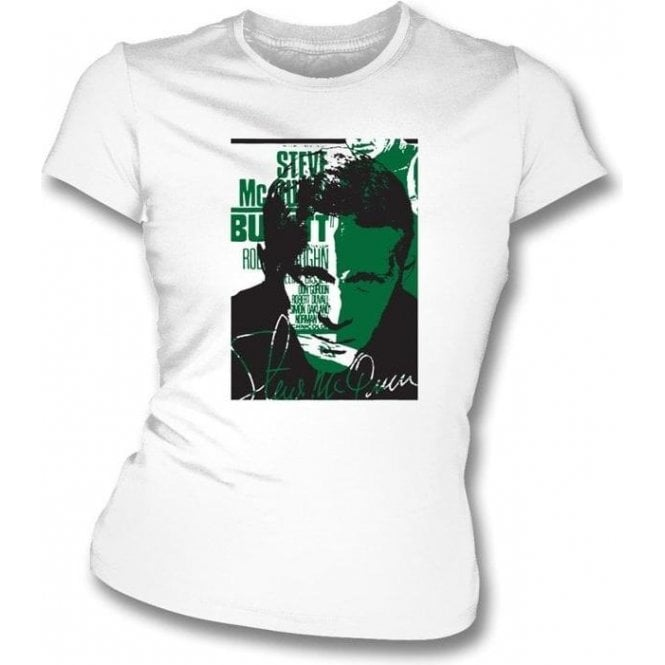 Steve McQueen Collage Womens Slimfit T-shirt