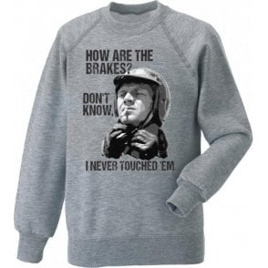 Steve McQueen - How Are The Brakes? Kids Sweatshirt