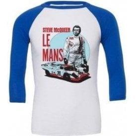 Steve McQueen Le Mans 3/4 Sleeve Unisex Baseball Top