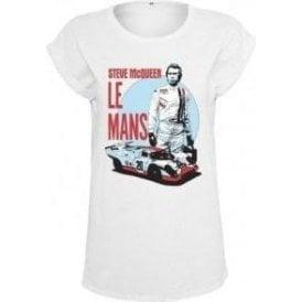 Steve McQueen Le Mans Women's Extended Shoulder T-Shirt