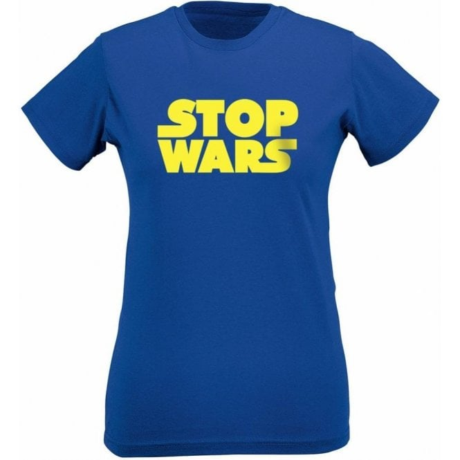 Stop Wars (As Worn By Natalie Portman) Womens Slim Fit T-Shirt