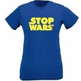 Stop Wars (As Worn By Natalie Portman) Womens Slim Fit T-Shirt