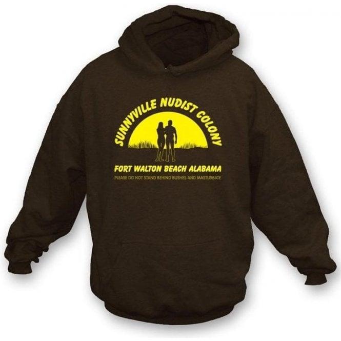 Sunnyville Nudist Colony Hooded Sweatshirt