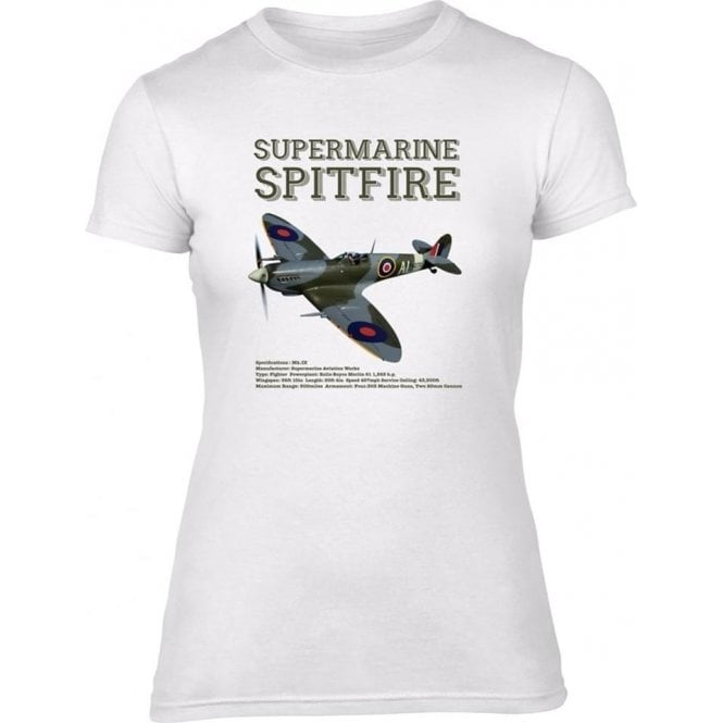 Supermarine Spitfire Womens Slim Fit T-Shirt