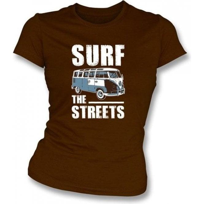 Surf The Streets VW Campervan Womens Slimfit T-shirt
