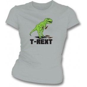 T-Rext Womens Slim Fit T-Shirt
