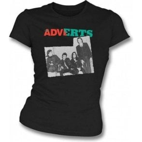 The Adverts - Band photo girls slimfit t-shirt