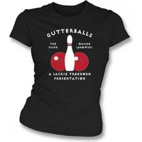 The Big Lebowski Gutterballs Women's Slimfit T-shirt
