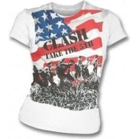 The Clash - Take The 5th Womens Slim Fit T-Shirt