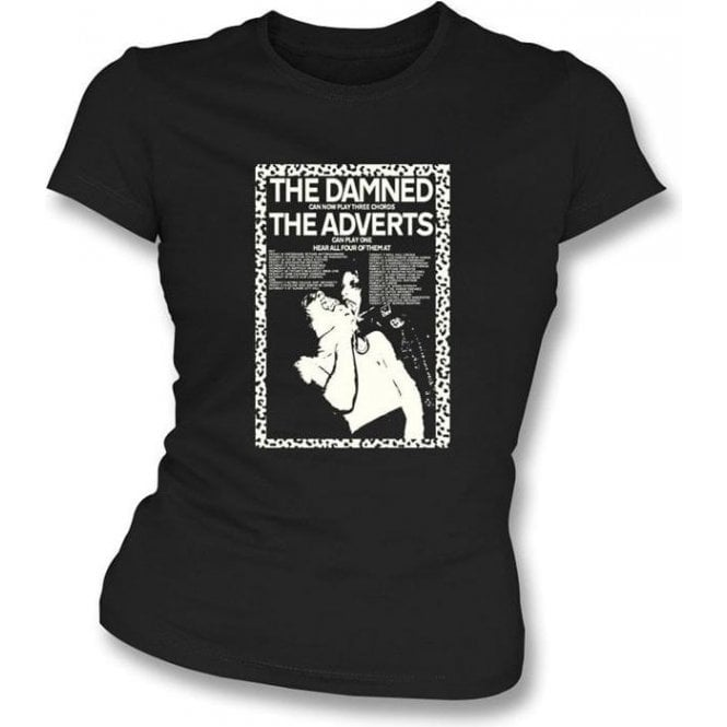 The Damned Can Now Play 3 Chords Womens Slimfit T-shirt