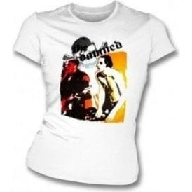 The Damned - Red & Yellow Skull Womens Slim Fit T-Shirt