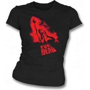 The Evil Dead Film Poster Womens Slim Fit T-Shirt