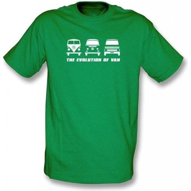The Evolution Of Van Vw Campervan T Shirt