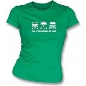 The Evolution of Van VW Campervan Womens Slimfit T-shirt
