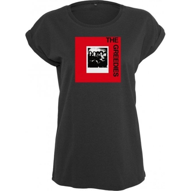 The Greedies Band Photo ( Thin Lizzy, Sex Pistols, Phil Lynott) Womens Extended Shoulder T-Shirt