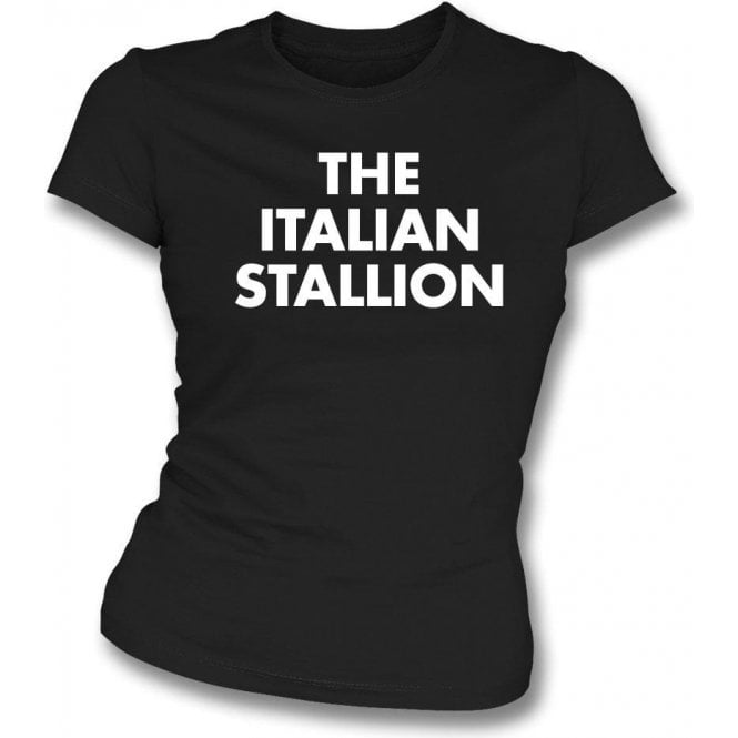 The Italian Stallion (As Worn By Johnny Thunders, New York Dolls) Womens Slim Fit T-Shirt