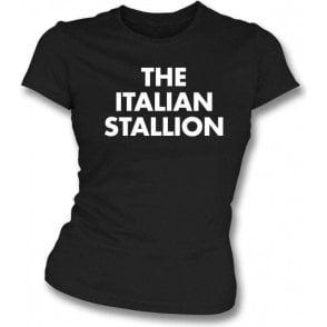 The Italian Stallion (As Worn By Johnny Thunders, New York Dolls) Womens Slim Fit T-Shirt