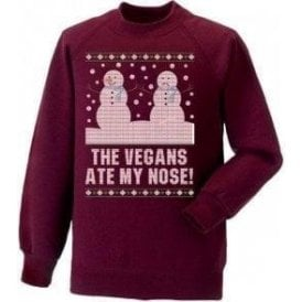 The Vegans Ate My Nose! Christmas Jumper