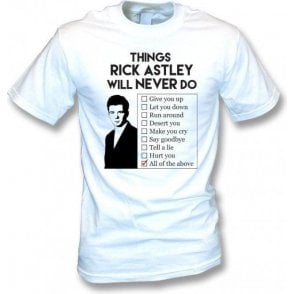Things Rick Astley Will Never Do Kids T-Shirt