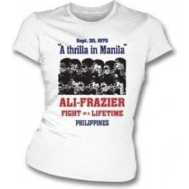 Thrilla in Manila (Ali/Frazier) 1975 Poster Girl's Slim-Fit T-shirt