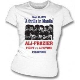 Thrilla in Manila (Ali/Frazier) 1975 Poster Girl's Slim-Fit T-shirt