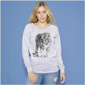 Tiger Womens Fashion Sweatshirt