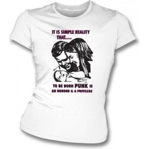 To Be Born Punk Women's Slimfit T-shirt