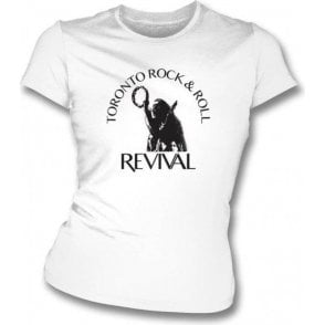 Toronto Rock & Roll Revival Women's Slim Fit T-shirt As Worn By John Lennon (The Beatles)
