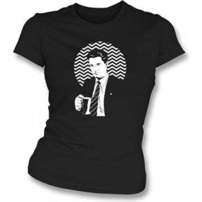 Twin Peaks Coffee Cup Womens Slim Fit T-Shirt