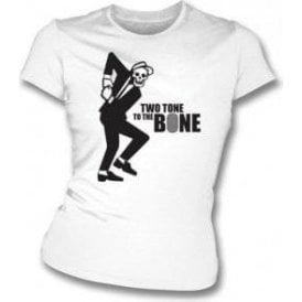 Two Tone To The Bone Womens Slim Fit T-Shirt
